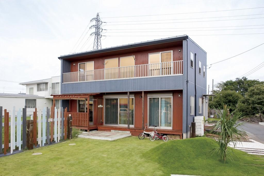 自然素材の家の外観