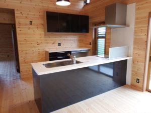 白と黒のキッチン7