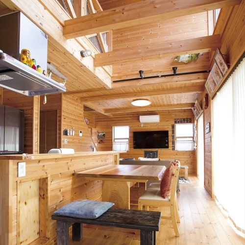 アイランドキッチンのある木の家|つくば市の注文住宅