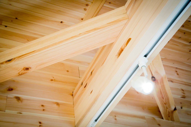木のぬくもり溢れる自然派住宅のライティングレール|富山の注文住宅,ログハウスのような木の家を低価格で建てるならエイ・ワン
