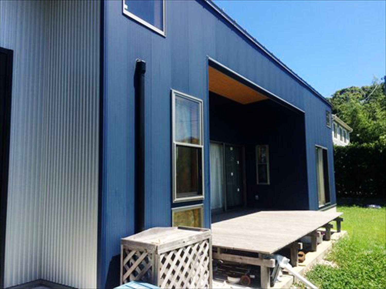 オープンスペースの平屋2LDKのウッドデッキ|千葉の注文住宅,ログハウスのような木の家を低価格で建てるならエイ・ワン
