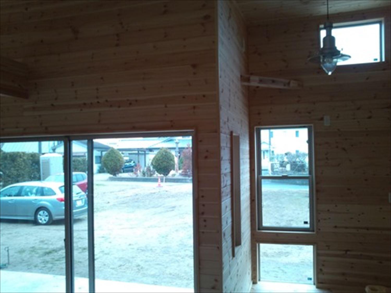 オープンスペースの平屋の内装2|一宮町の注文住宅,ログハウスのような木の家を低価格で建てるならエイ・ワン