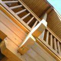 赤い屋根のログハウスの外観4|小美玉市の注文住宅,ログハウスのような木の家を低価格で建てるならエイ・ワン
