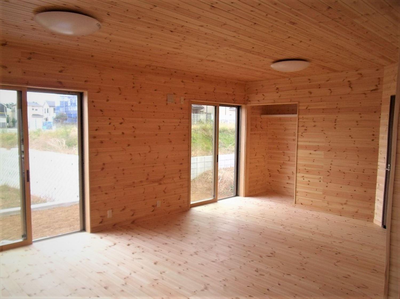 ボルダリングを楽しむ二階建ての内装|船橋市の注文住宅,ログハウスのような木の家を低価格で建てるならエイ・ワン