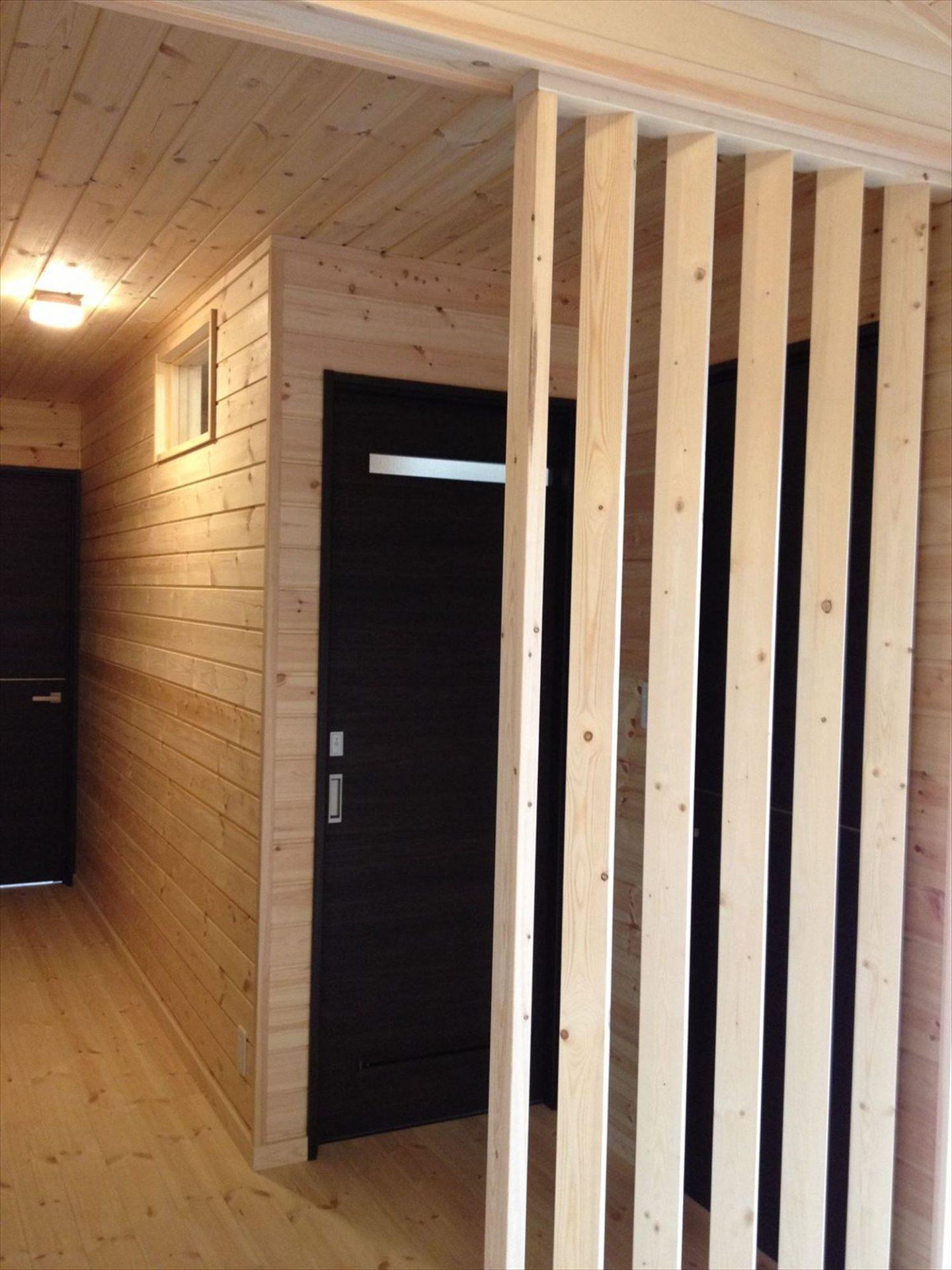 無垢材の内装6|ログハウスのような木の家を低価格で建てるならエイ・ワン