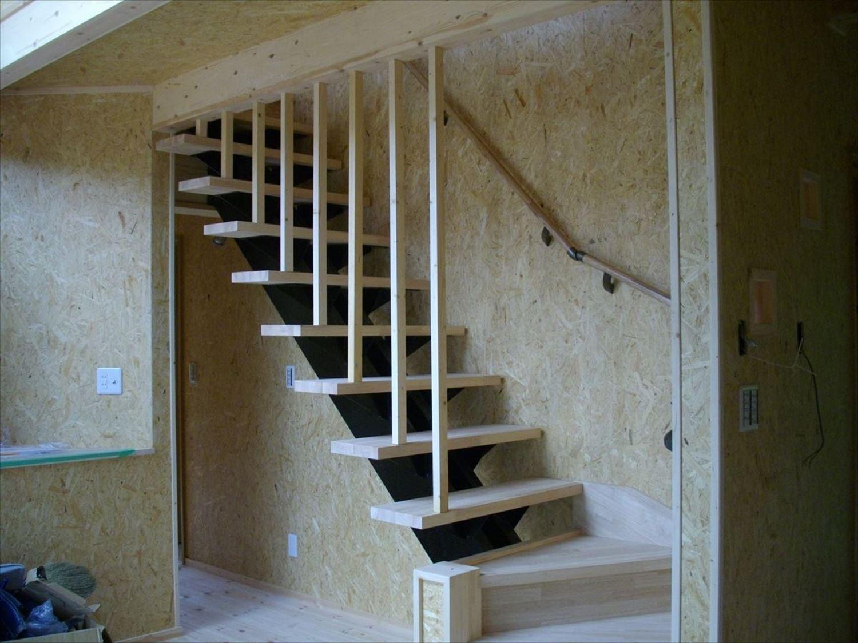 階段|ログハウスのような木の家を低価格で建てるならエイ・ワン