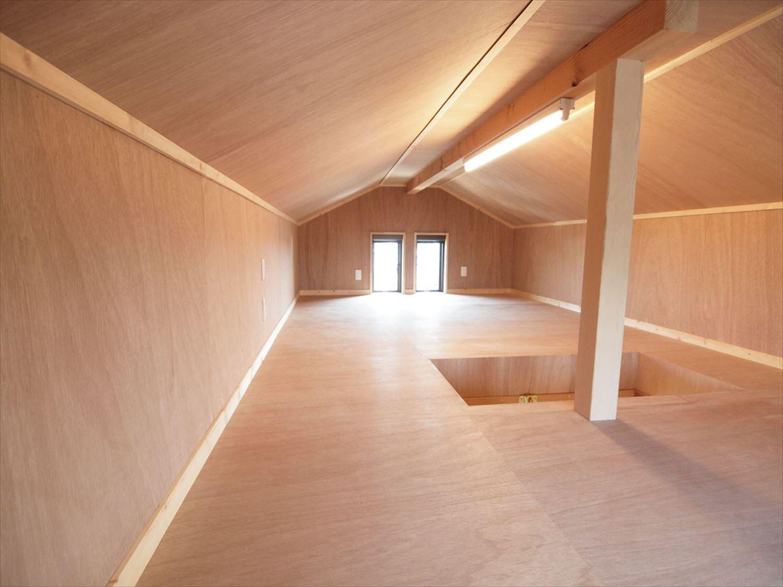 屋根裏スペース|ログハウスのような木の家を低価格で建てるならエイ・ワン