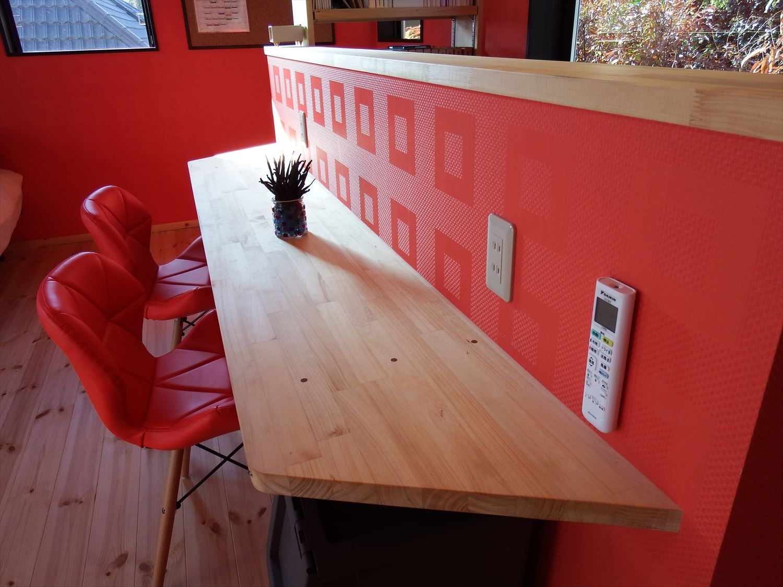 カウンターテーブル|ログハウスのような木の家を低価格で建てるならエイ・ワン