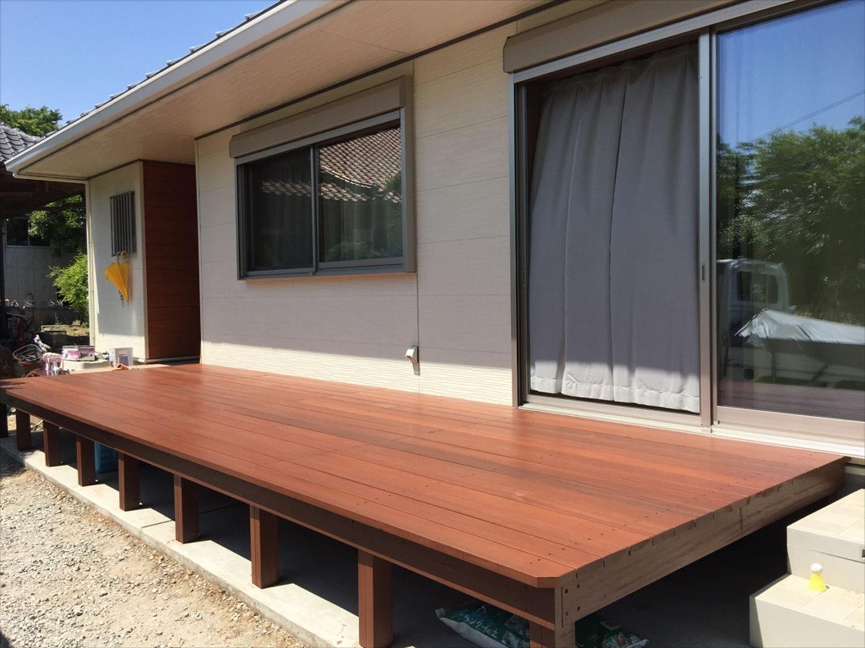ウッドデッキ3|ログハウスのような木の家を低価格で建てるならエイ・ワン