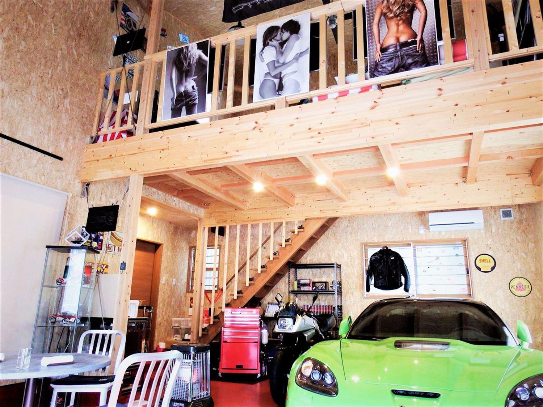 ガレージ風|ログハウスのような木の家を低価格で建てるならエイ・ワン