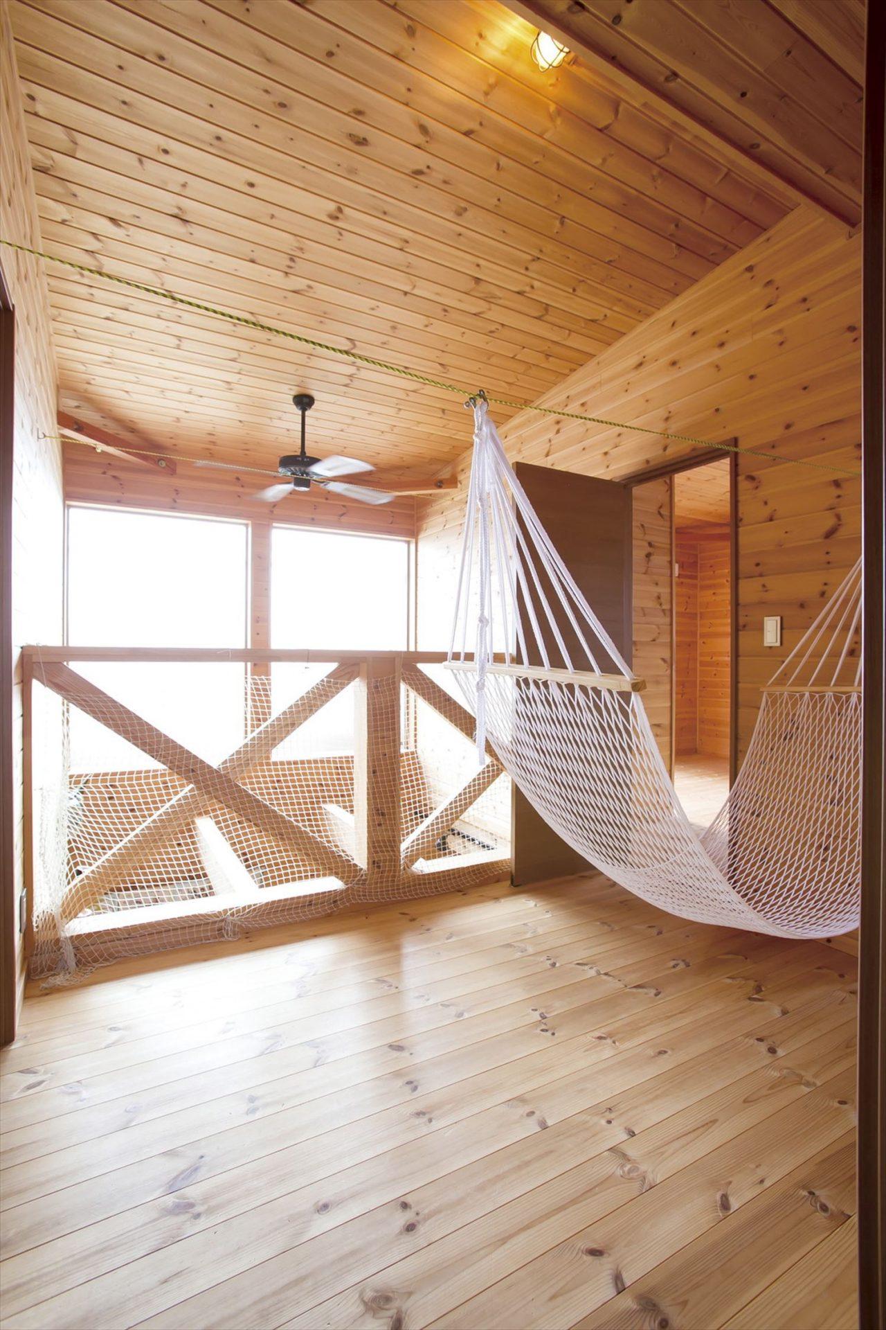ハンモック|ログハウスのような木の家を低価格で建てるならエイ・ワン