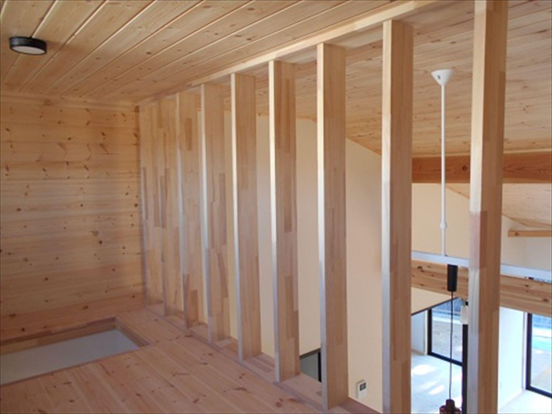 防音室で趣味を楽しむ二階建てのロフト|鉾田市の注文住宅,ログハウスのような木の家を低価格で建てるならエイ・ワン