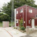 ログハウス風コンパクトハウスの外観|四街道市の注文住宅,ログハウスのような木の家を低価格で建てるならエイ・ワン