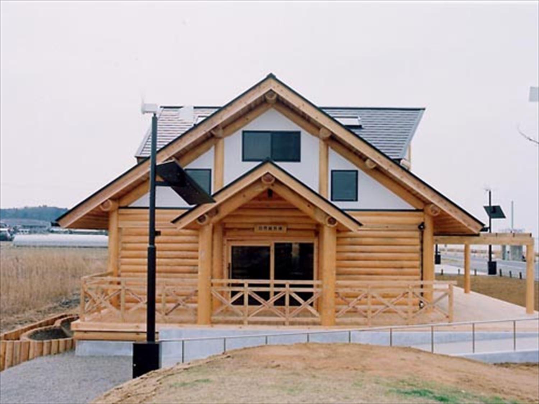 湖の畔に建つログハウスの外観4|鉾田市の注文住宅,ログハウスのような木の家を低価格で建てるならエイ・ワン