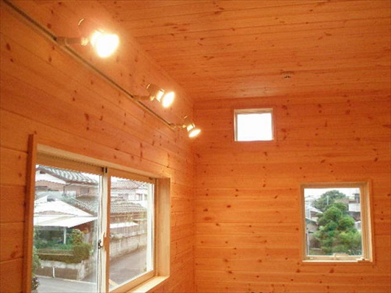 ガルバリウム外壁の二階建ての内装3|石岡市の注文住宅,ログハウスのような木の家を低価格で建てるならエイ・ワン
