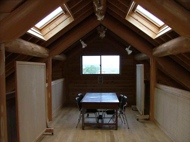 湖の畔に建つログハウスの会議室|鉾田市の注文住宅,ログハウスのような木の家を低価格で建てるならエイ・ワン