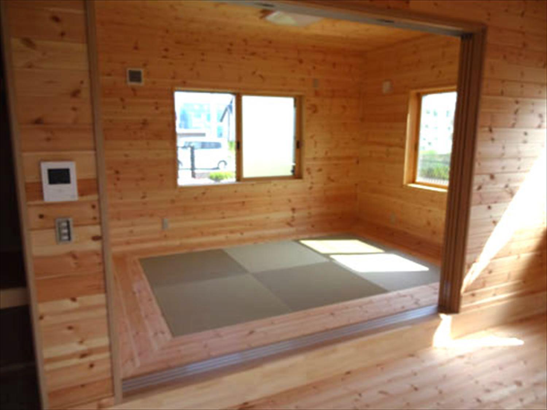 平屋2LDKの畳コーナー|栃木県の注文住宅,ログハウスのような木の家を低価格で建てるならエイ・ワン
