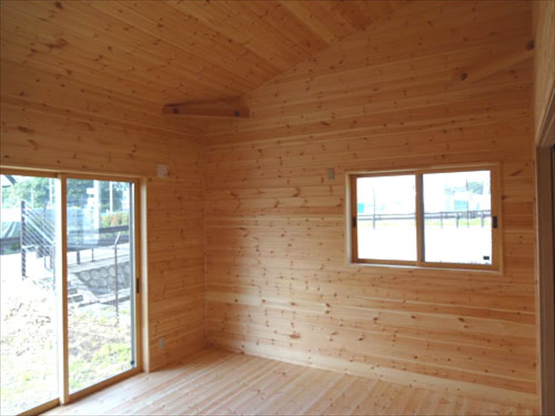 畳コーナーのある平屋2LDKの内装3|栃木県の注文住宅,ログハウスのような木の家を低価格で建てるならエイ・ワン