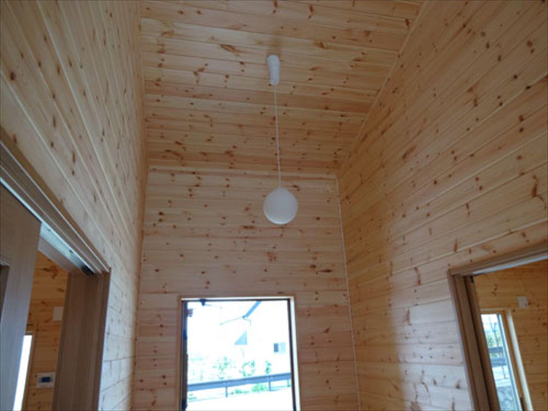畳コーナーのある平屋2LDKの照明|栃木県の注文住宅,ログハウスのような木の家を低価格で建てるならエイ・ワン