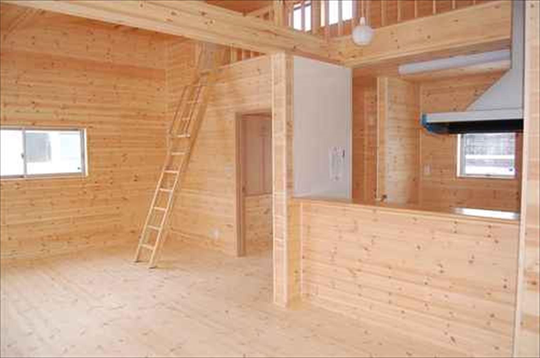 二階建て戸建て賃貸住宅の内装7|水戸市の注文住宅,ログハウスのような木の家を低価格で建てるならエイ・ワン