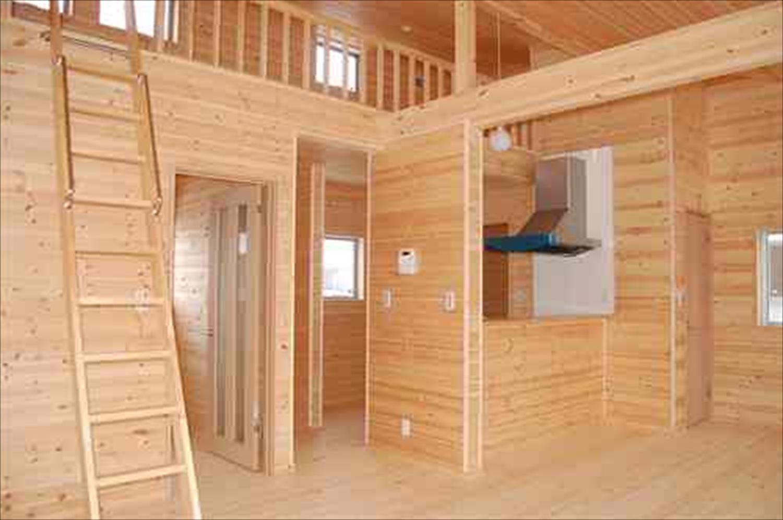 戸建て賃貸住宅の内装8|茨城の注文住宅,ログハウスのような木の家を低価格で建てるならエイ・ワン