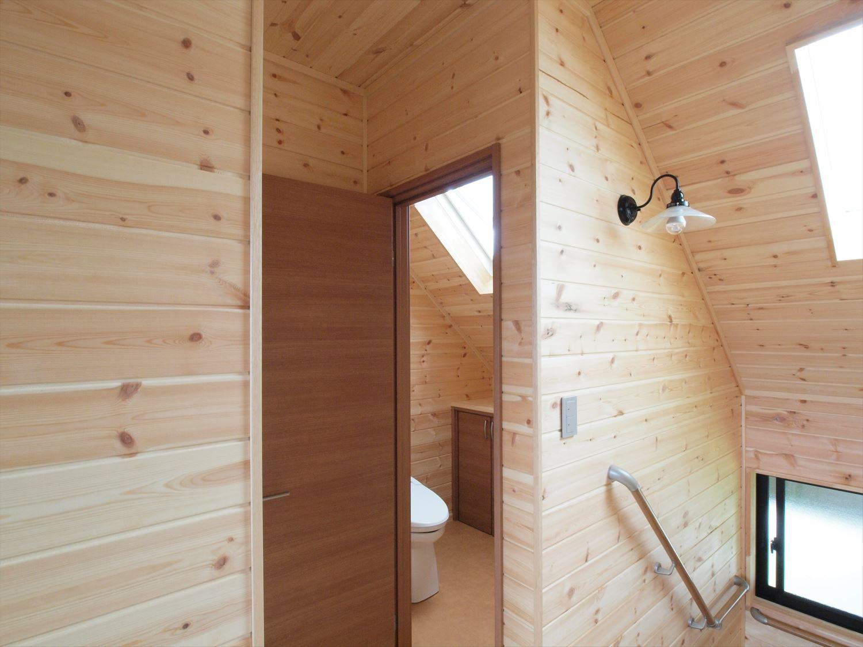 ログハウス風デザイン二階建ての内装4|つくば市の注文住宅,ログハウスのような木の家を低価格で建てるならエイ・ワン