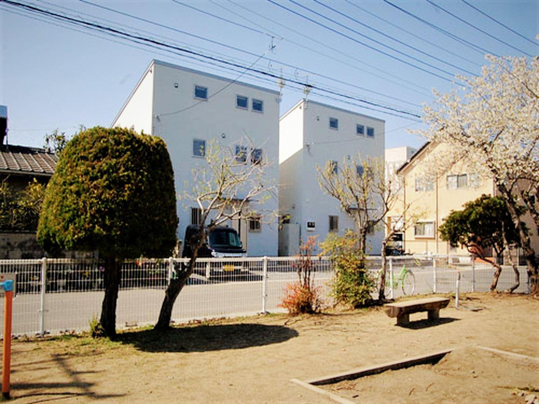 二階建て戸建て賃貸住宅の外観|水戸市の注文住宅,ログハウスのような木の家を低価格で建てるならエイ・ワン