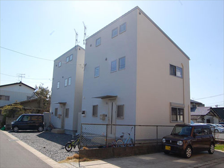 二階建て戸建て賃貸住宅の外観2|水戸市の注文住宅,ログハウスのような木の家を低価格で建てるならエイ・ワン