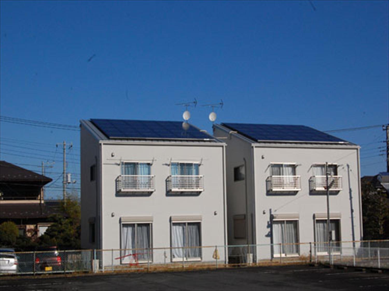 二階建て戸建て賃貸住宅の外観3|水戸市の注文住宅,ログハウスのような木の家を低価格で建てるならエイ・ワン