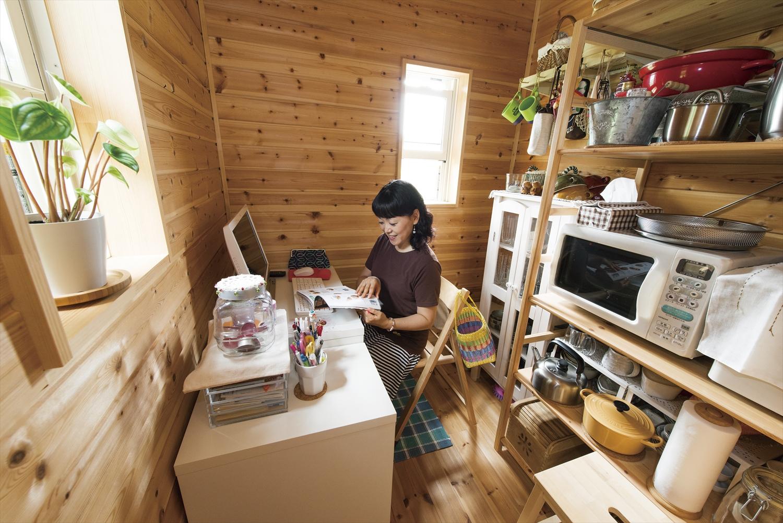 キッチンに付属した家事室