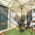 防音室のある平屋のサンルーム|土浦市の注文住宅,ログハウスのような木の家を低価格で建てるならエイ・ワン