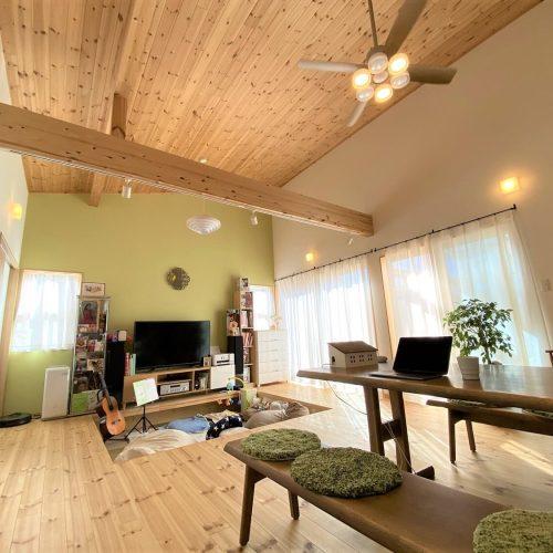 土浦市の平屋|防音室のある暮らしやすい家