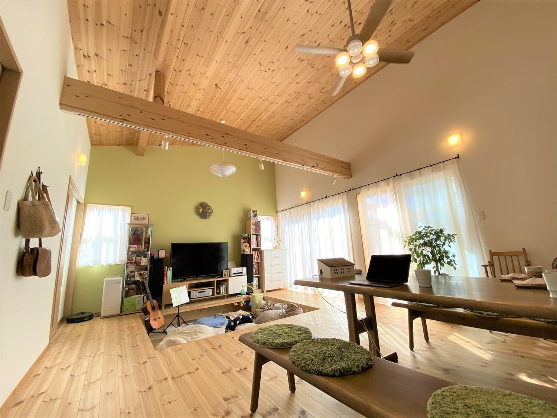 防音室のある平屋のLDK|土浦市の注文住宅,ログハウスのような木の家を低価格で建てるならエイ・ワン