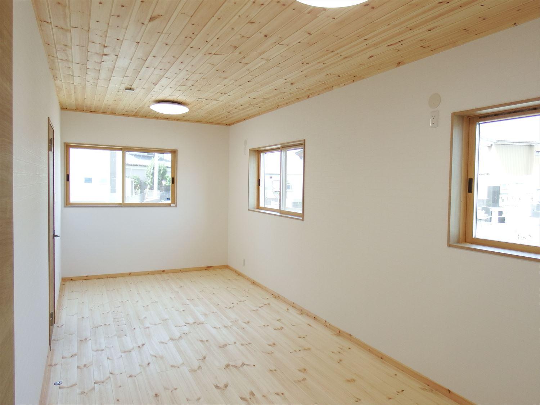 防音室のある平屋の子供部屋|土浦市の注文住宅,ログハウスのような木の家を低価格で建てるならエイ・ワン