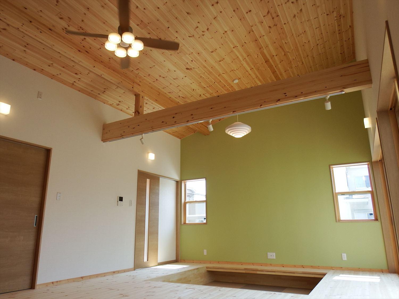 防音室のある4LDK平屋の天井|茨城県土浦市の注文住宅,ログハウスのような木の家を低価格で建てるならエイ・ワン