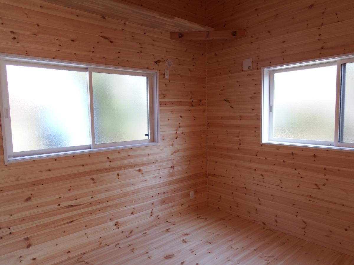3LDK間取りの平屋の洋室2|栃木県鹿沼市の注文住宅,ログハウスのような木の家を低価格で建てるならエイ・ワン