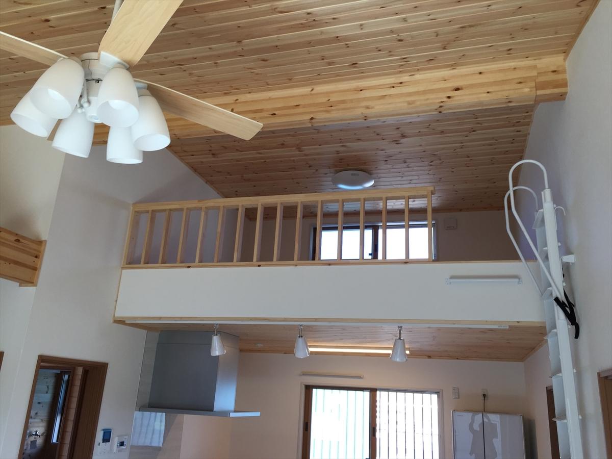 無垢材平屋のロフト|石岡市の注文住宅,ログハウスのような木の家を低価格で建てるならエイ・ワン