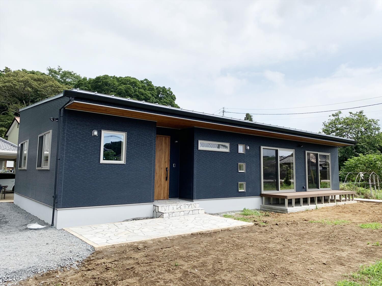 無垢材を使用した広いLDKがある長期優良住宅の外観1|茨城県行方市の注文住宅,エイ・ワン