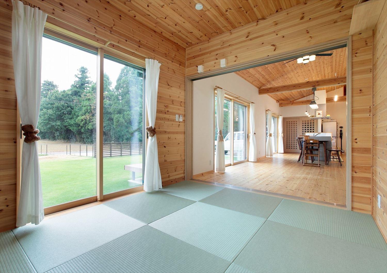 カビなどに強い樹脂畳を使った建築事例1。