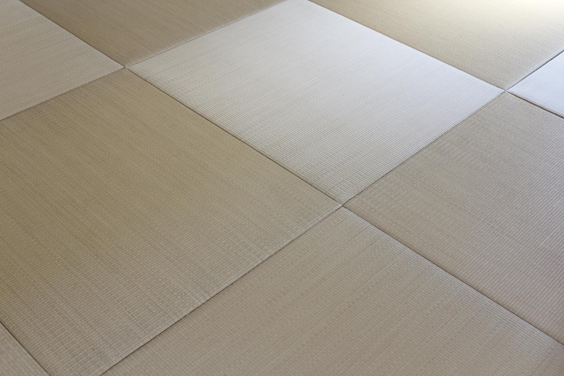 カビなどに強い樹脂畳の例。