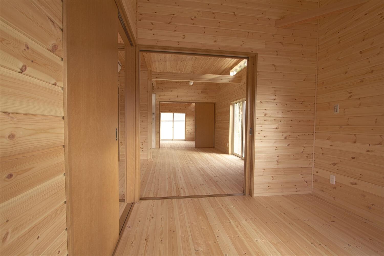 ログハウス風平屋の内装|つくばみらい市の注文住宅,ログハウスのような低価格住宅を建てるならエイ・ワン