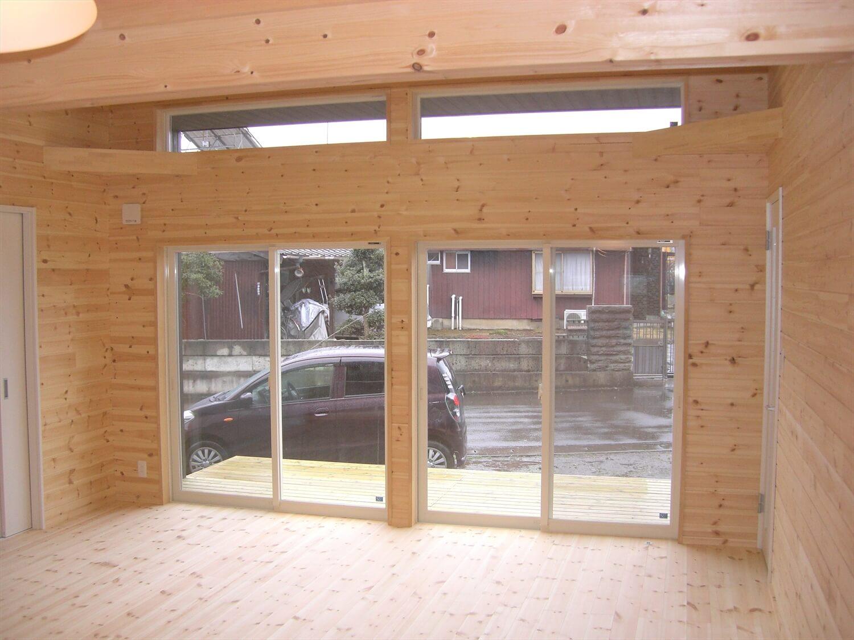 モダンな平屋の開口部|水戸市の注文住宅,ログハウスのような低価格住宅を建てるならエイ・ワン