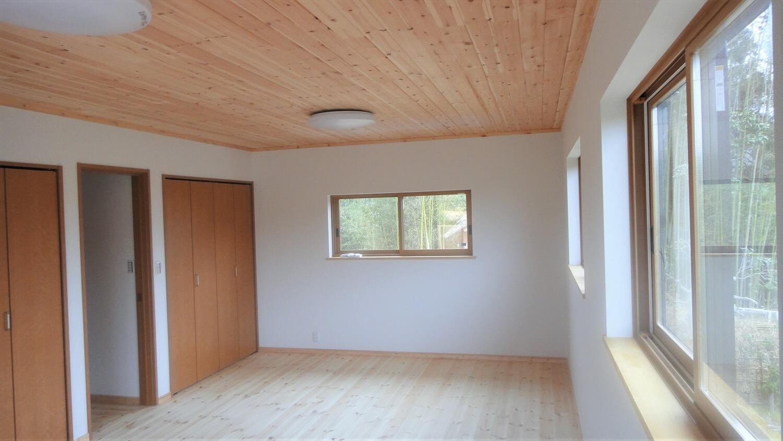 和モダン二階建ての白壁|行方市の注文住宅,ログハウスのような低価格住宅を建てるならエイ・ワン
