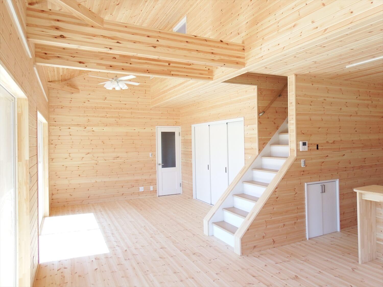 和室付き二階建てのLDK|行方市の注文住宅,ログハウスのような低価格住宅を建てるならエイ・ワン