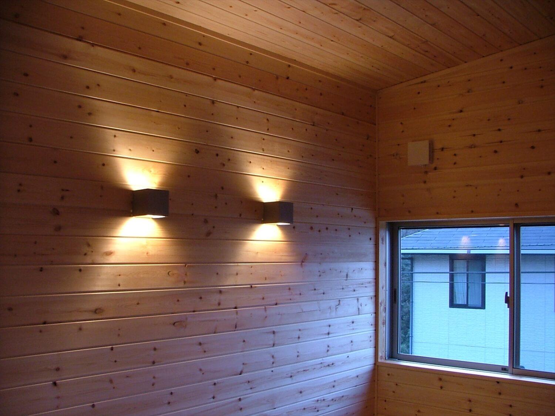 シンメトリー住宅の照明|袖ヶ浦市の注文住宅,ログハウスのような低価格住宅を建てるならエイ・ワン
