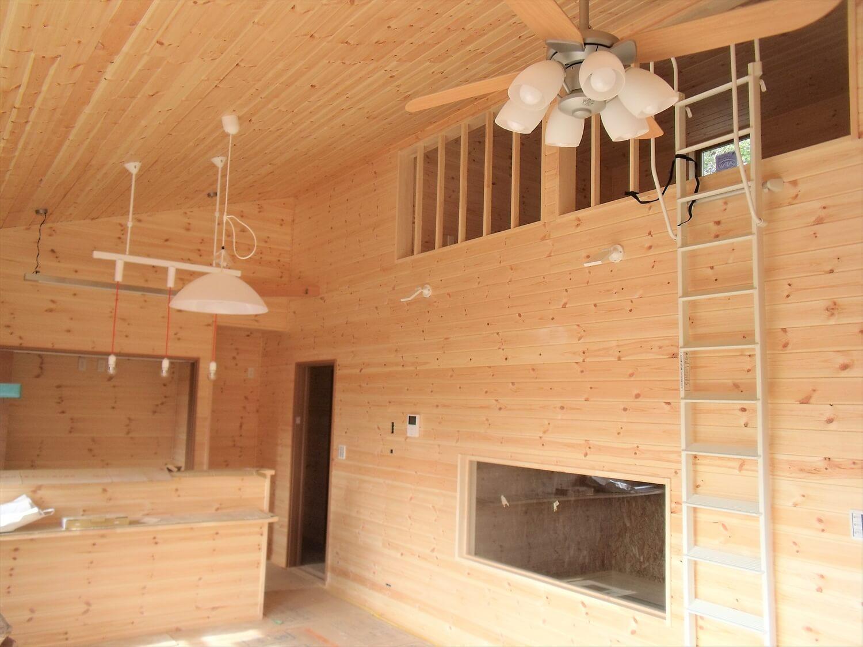 ロフト付きの平屋のロフト|石岡市の注文住宅,ログハウスのような低価格住宅を建てるならエイ・ワン