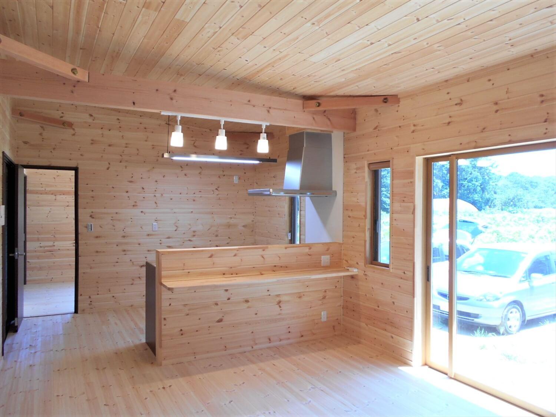 ログハウス風の平屋のLDK|小美玉市の注文住宅,ログハウスのような低価格住宅を建てるならエイ・ワン