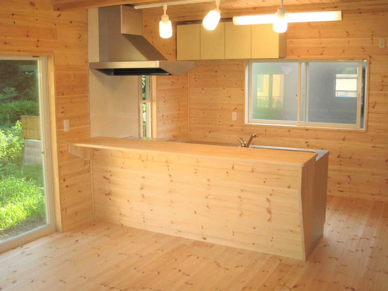 キューブ型の二階建てのLDK|笠間市の注文住宅,ログハウスのような低価格住宅を建てるならエイ・ワン