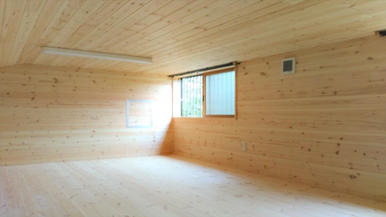 平屋のロフト|勝浦市の注文住宅,ログハウスのような低価格住宅を建てるならエイ・ワン