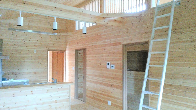 平屋のロフト|鹿嶋市の注文住宅,ログハウスのような低価格住宅を建てるならエイ・ワン